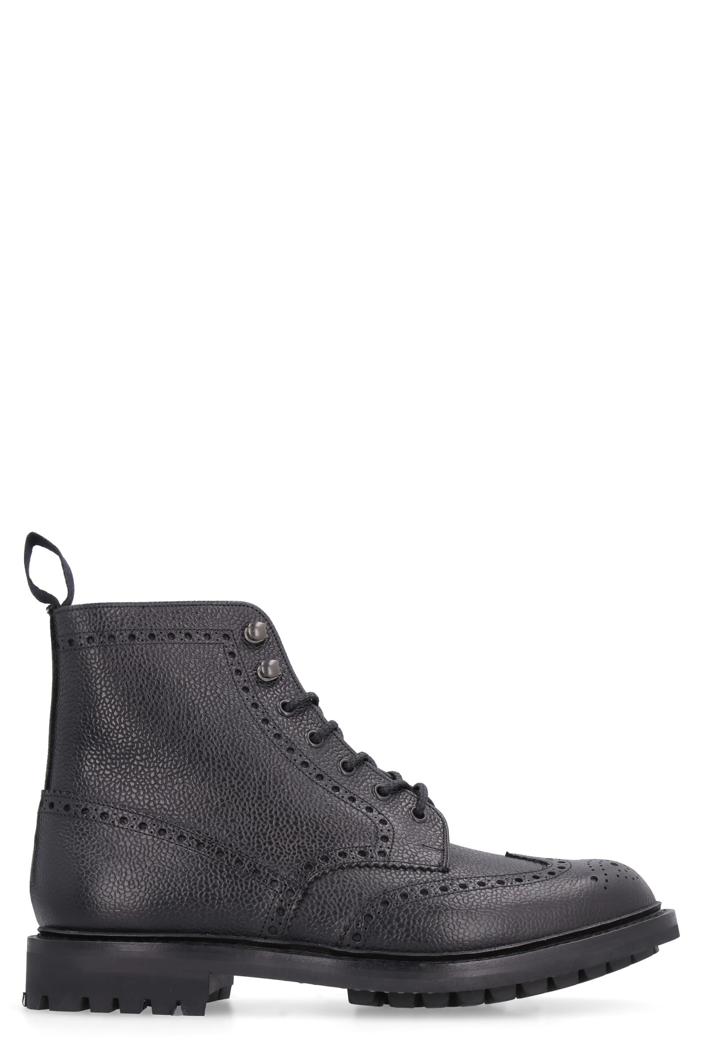 Churchs Mc Farlane 2 Pebbled Leather Boots With Brogues