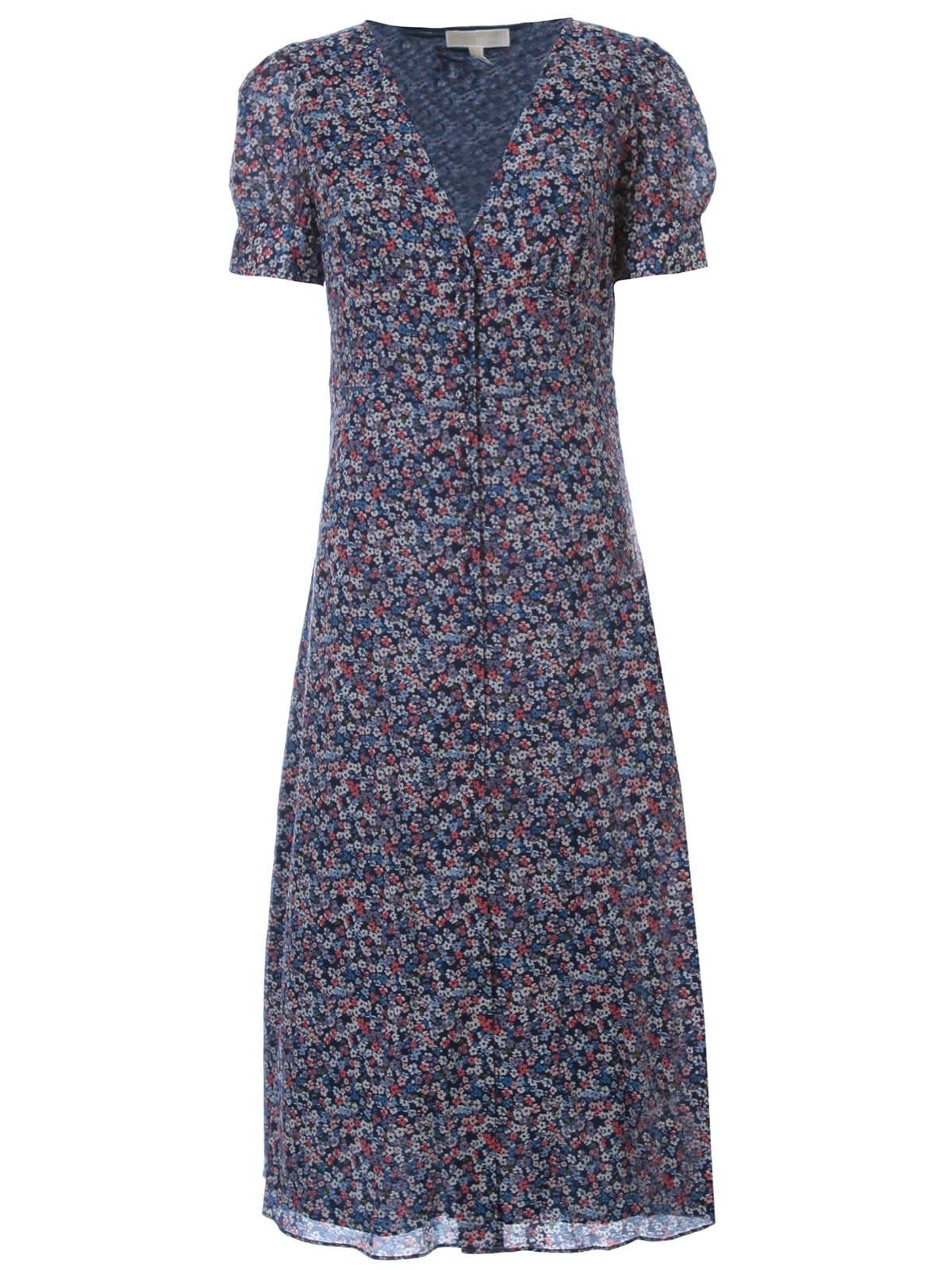 Buy MICHAEL Michael Kors Bloom Pf Sleeve Midi Dress online, shop MICHAEL Michael Kors with free shipping