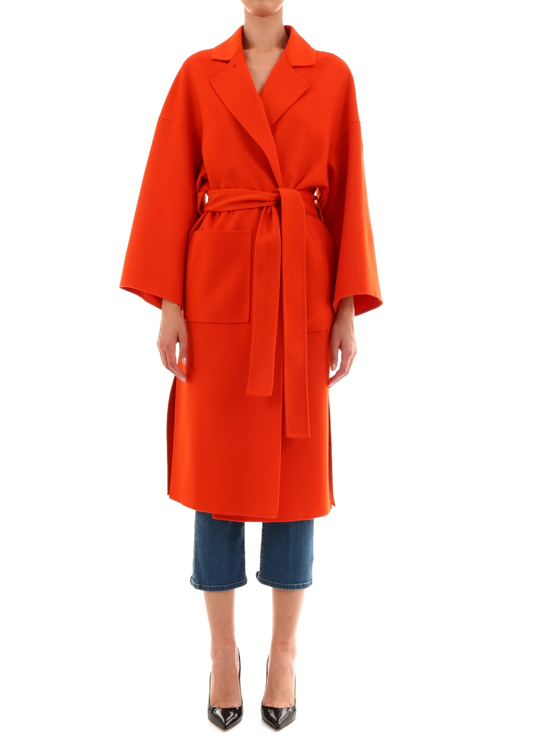 Loewe Oversize Belted Coat Orange