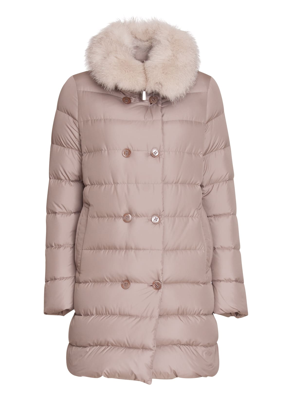 Moorer Detachable Fur Trimmed Jacket