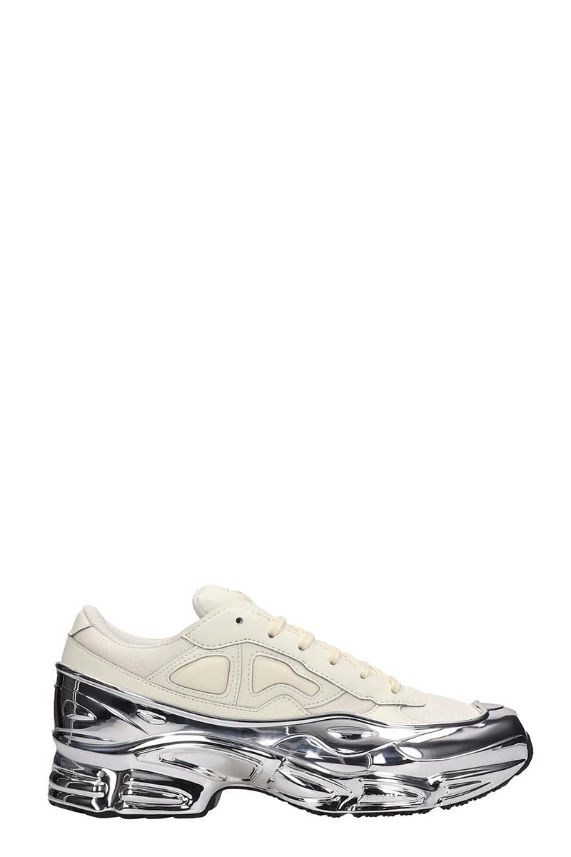 Adidas By Raf Simons White Leather Rs Ozweego Sneakers