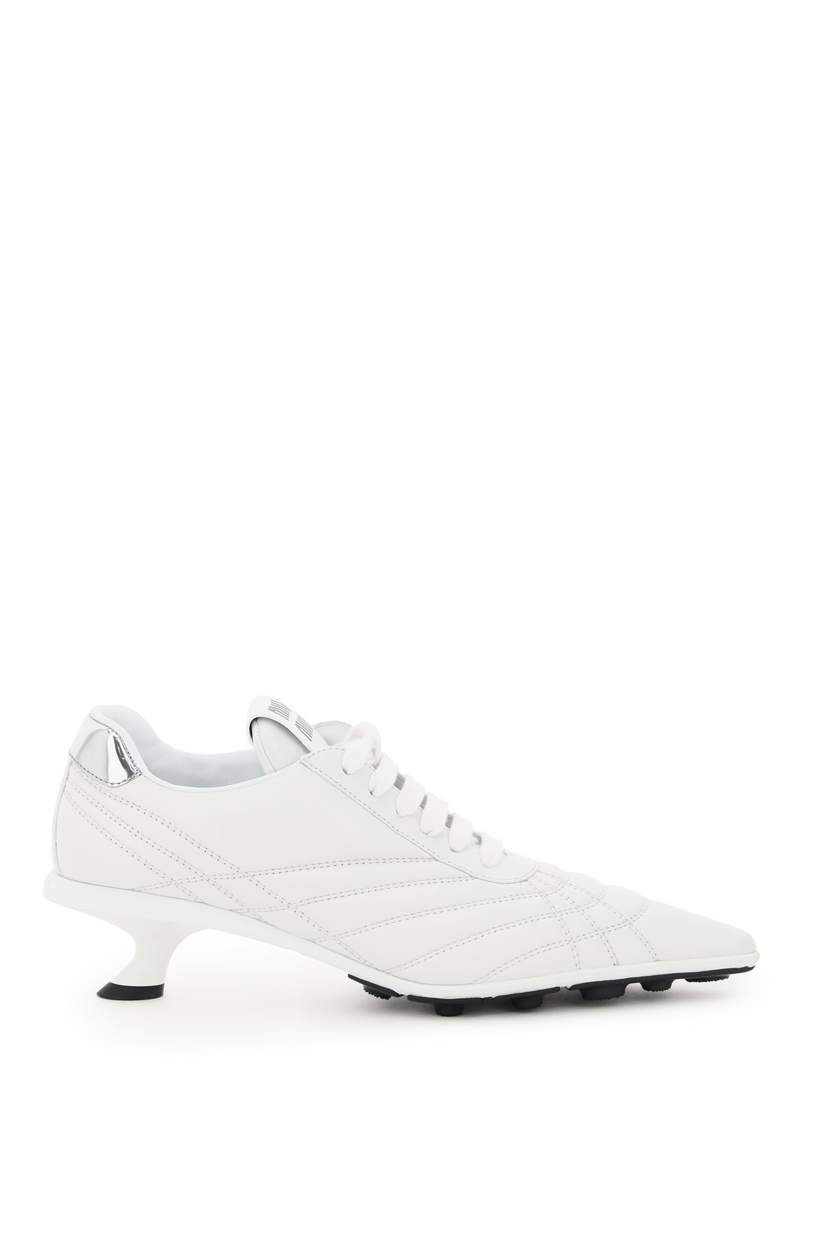 Miu Miu Leathers QUILTED NAPPA HEELED SNEAKERS