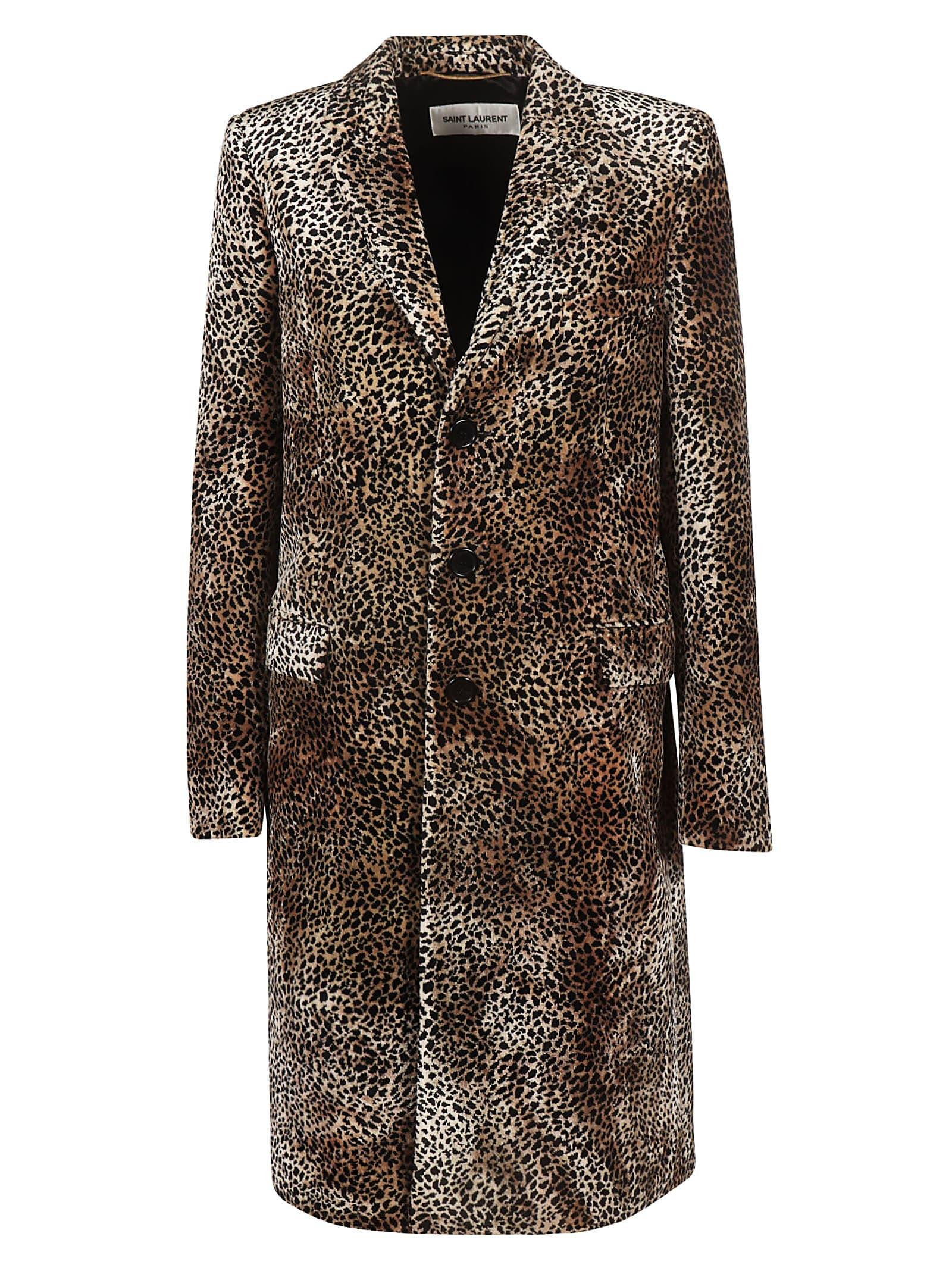 Saint Laurent Long Manteau Chesterfield Coat
