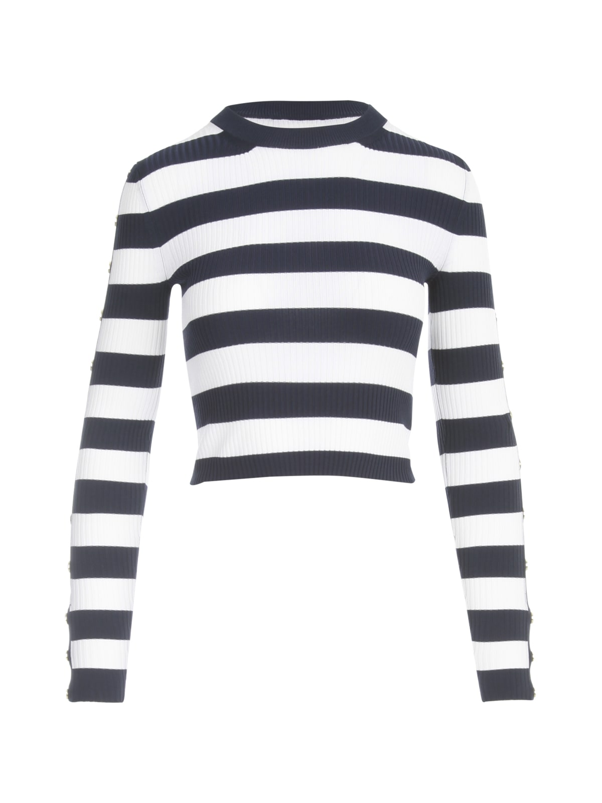 Michael Michael Kors Sweaters STRIPE SWEATER W/SNAP SLEEVES