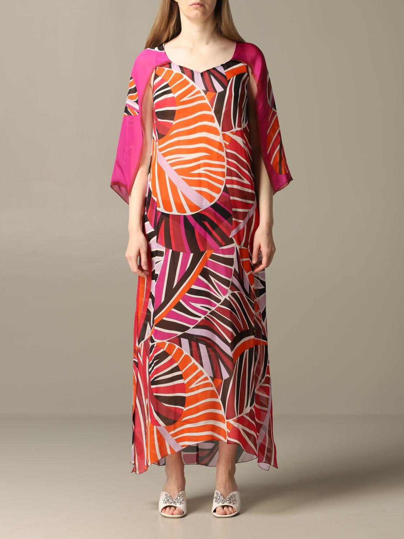 Buy Emilio Pucci Dress Emilio Pucci Dress In Printed Chiffon online, shop Emilio Pucci with free shipping