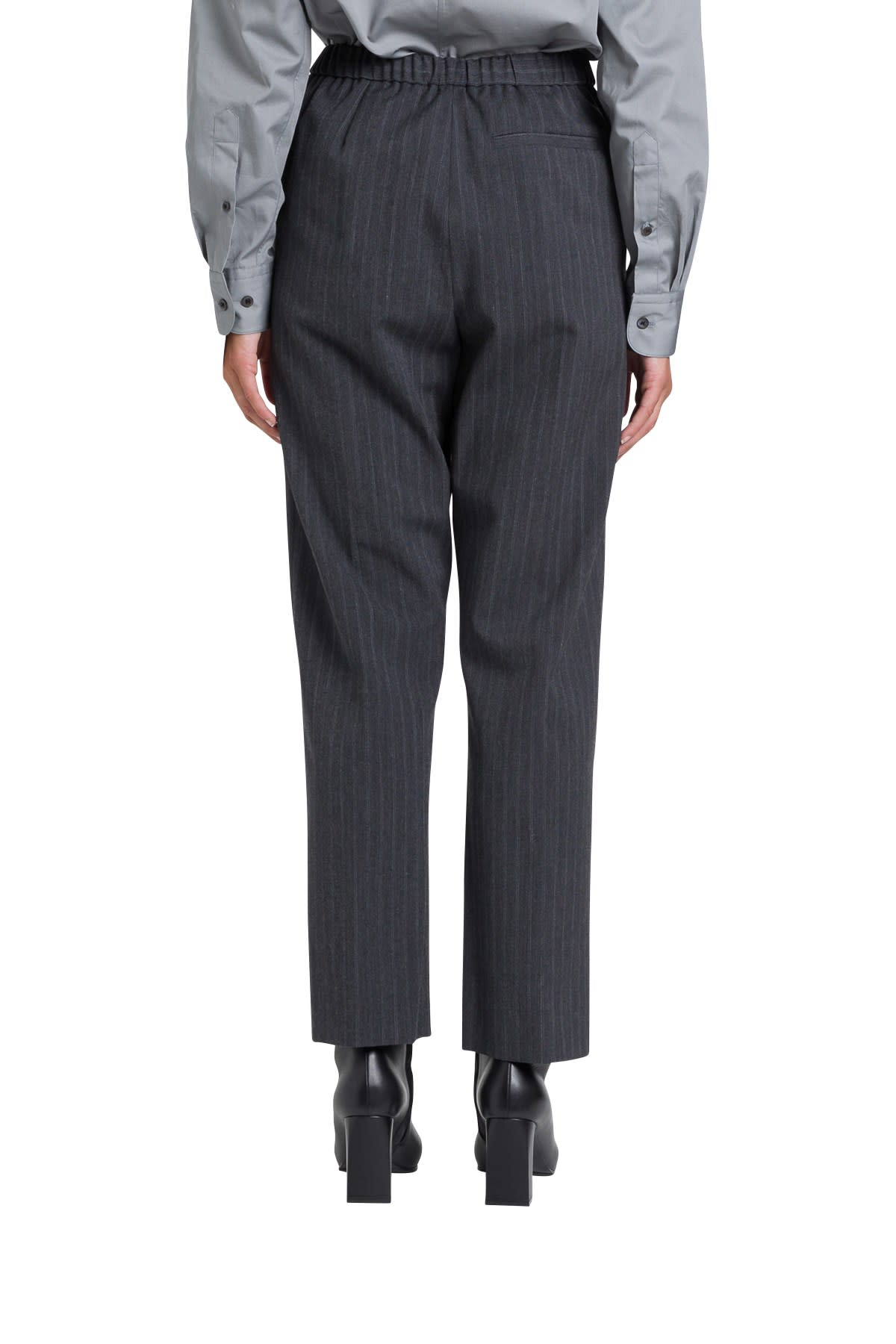Dries Van Noten PINSTRIPED TRPOUSERS WITH ELASTIC WAIST