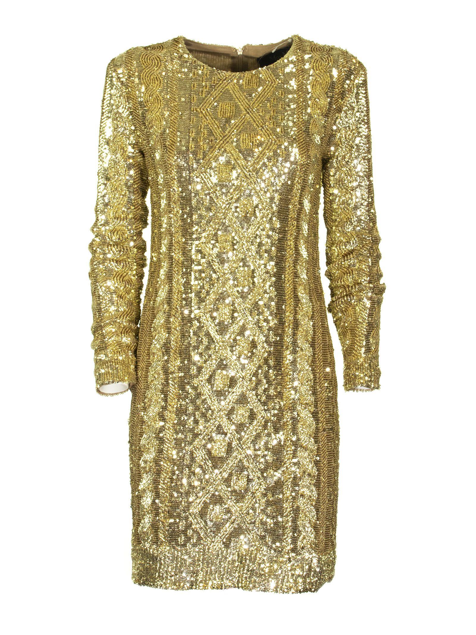 Max Mara Gold Dress