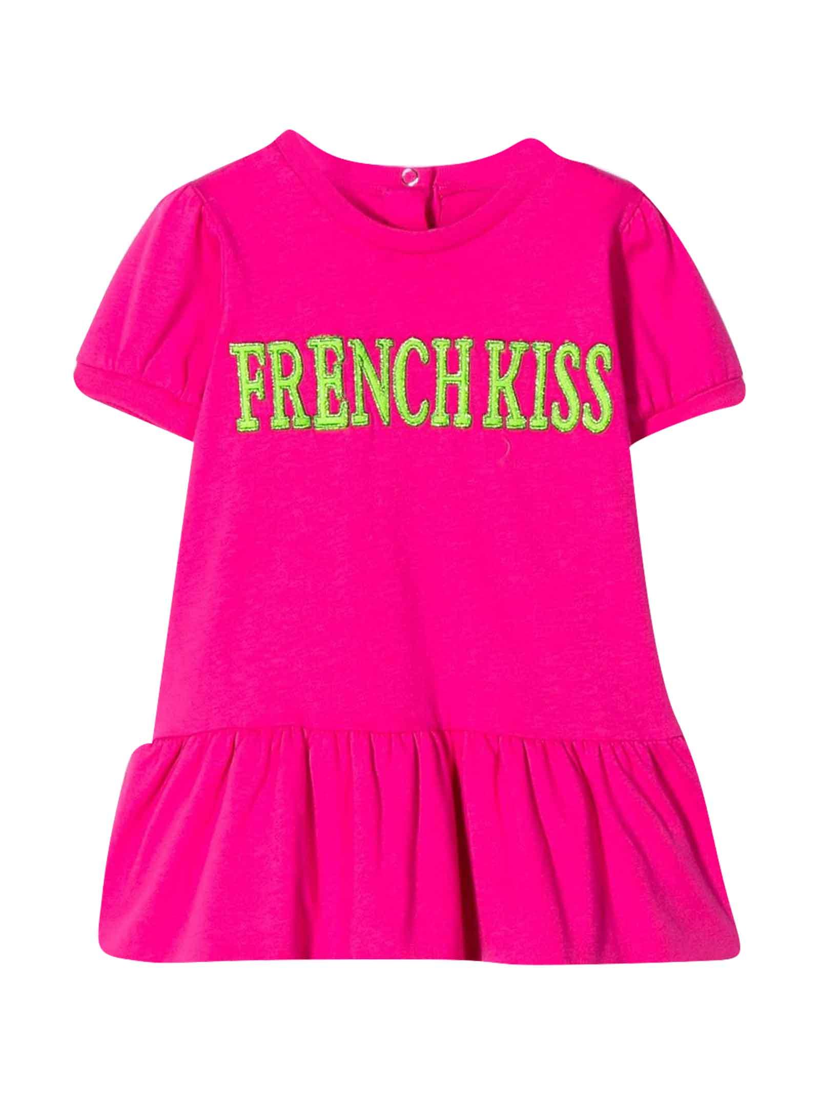 Buy Alberta Ferretti Fuchsia Dress With french Kiss Embroidery online, shop Alberta Ferretti with free shipping