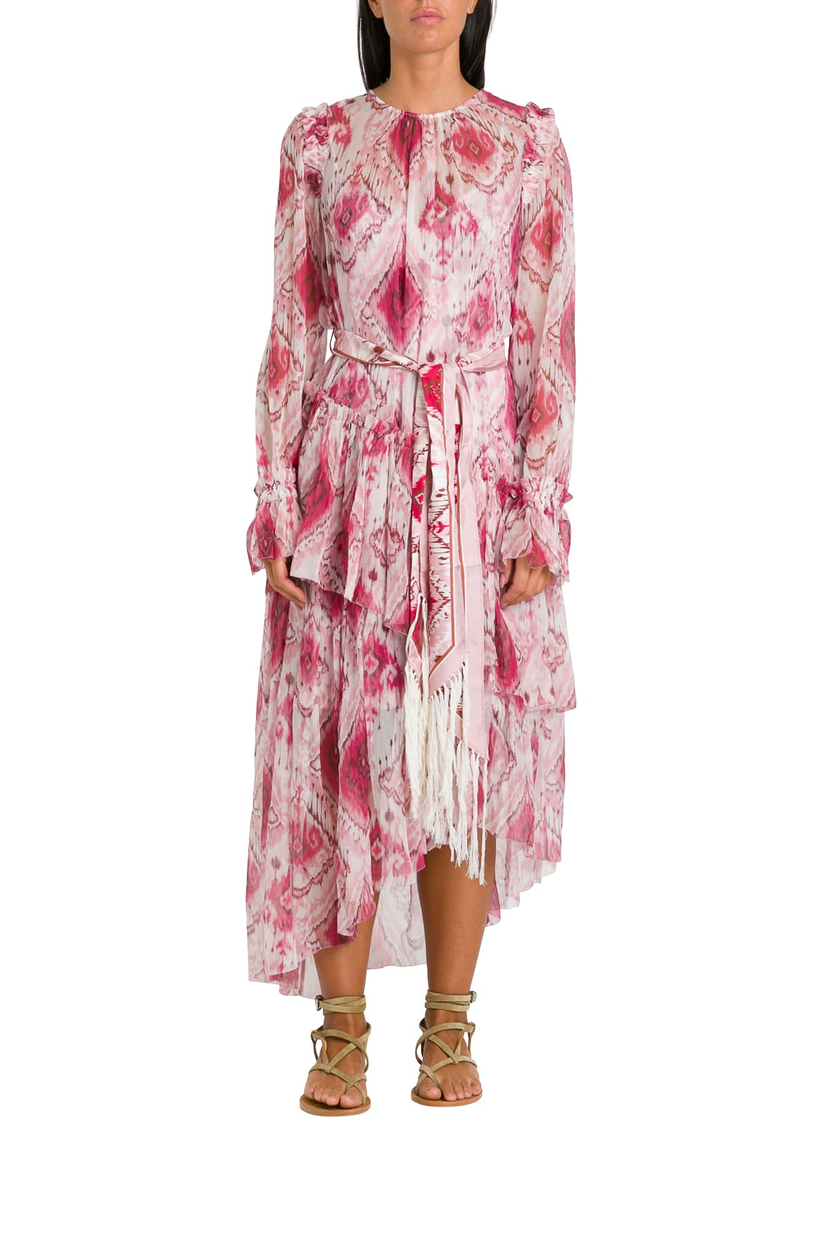Buy Zimmermann Wavelenght Asymmetric Dress online, shop Zimmermann with free shipping
