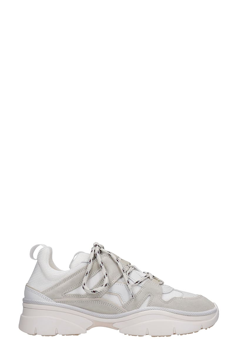 Isabel Marant Kindsay Sneakers In Grey Suede And Fabric