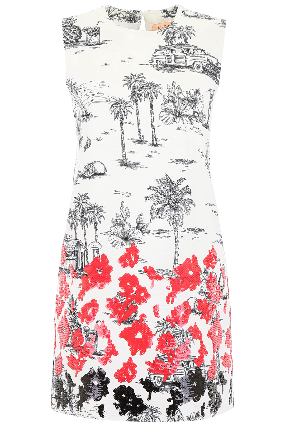 Buy N.21 Printed Dress With Sequins online, shop N.21 with free shipping