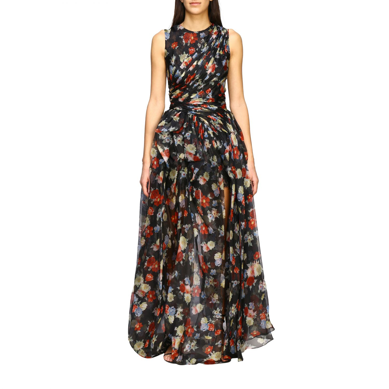Ermanno Scervino Dress Ermanno Scervino Long Dress In Printed Silk