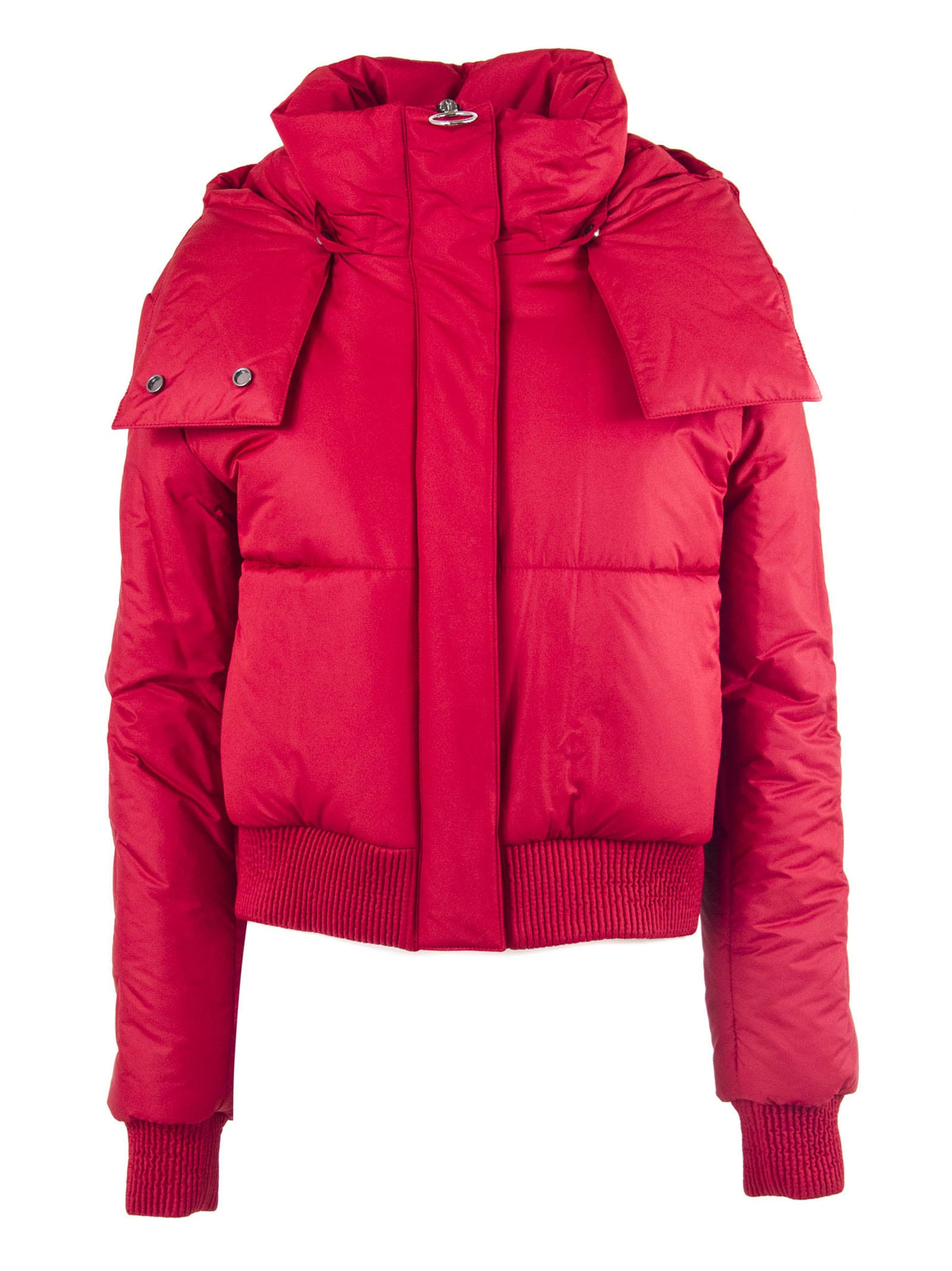 Off-White Red Hooded Down Jacket