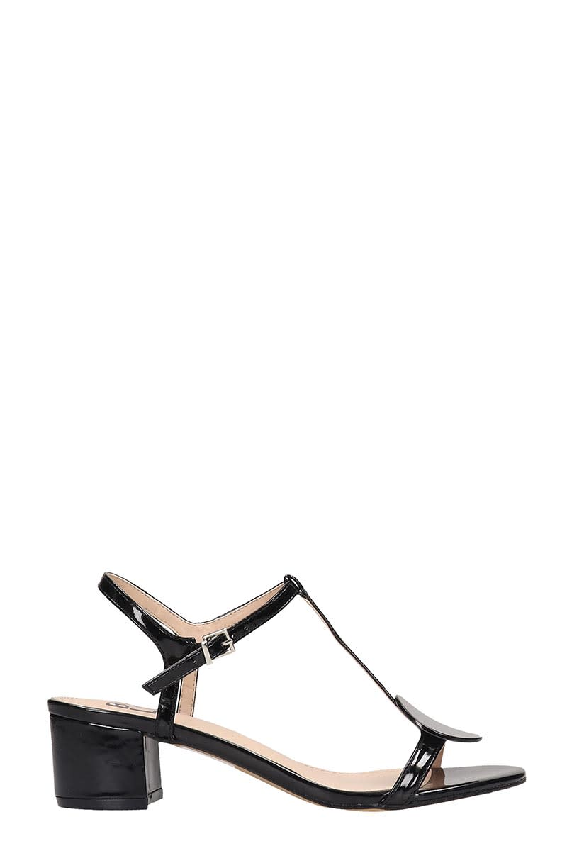 Bibi Lou Sandals In Black Patent Leather