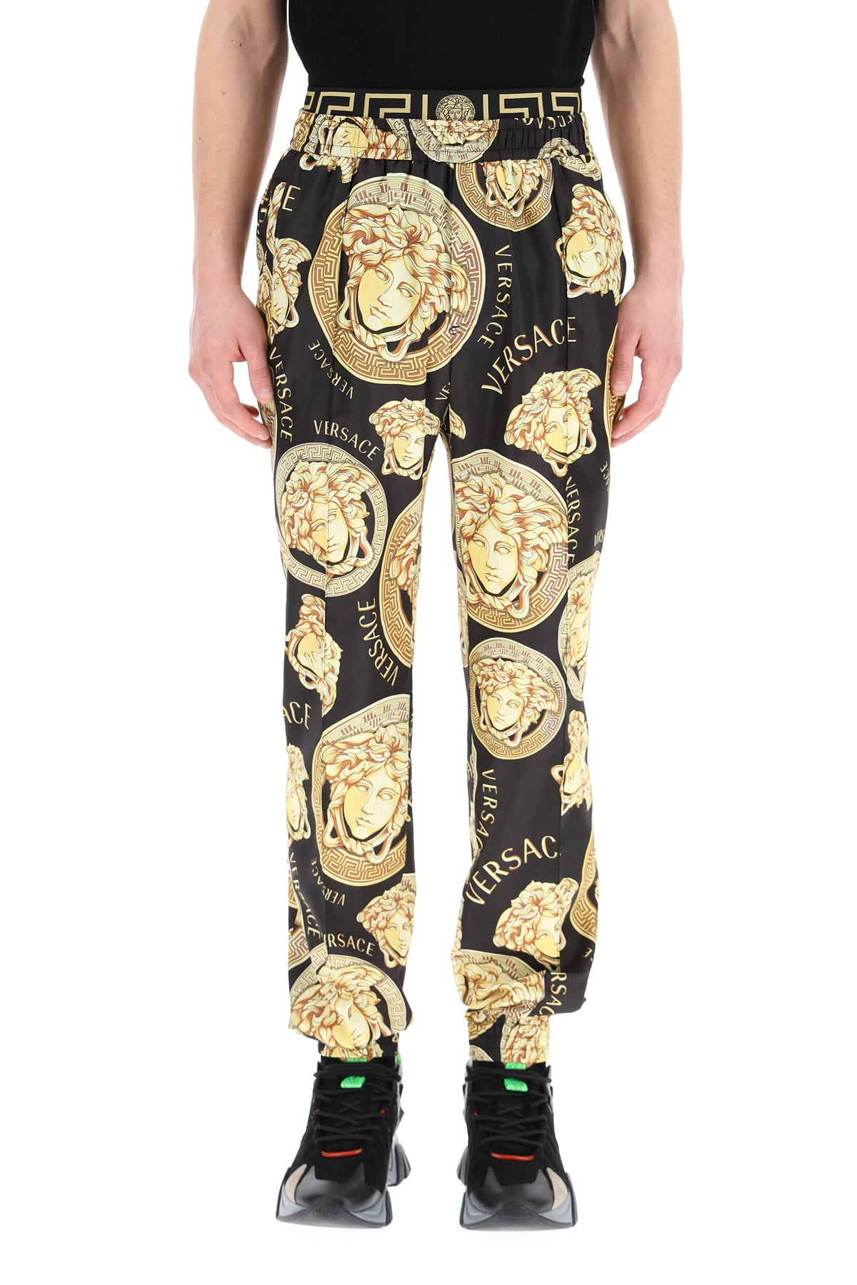 Versace Track pants AMPLIFIED MEDUSA PRINT TROUSERS