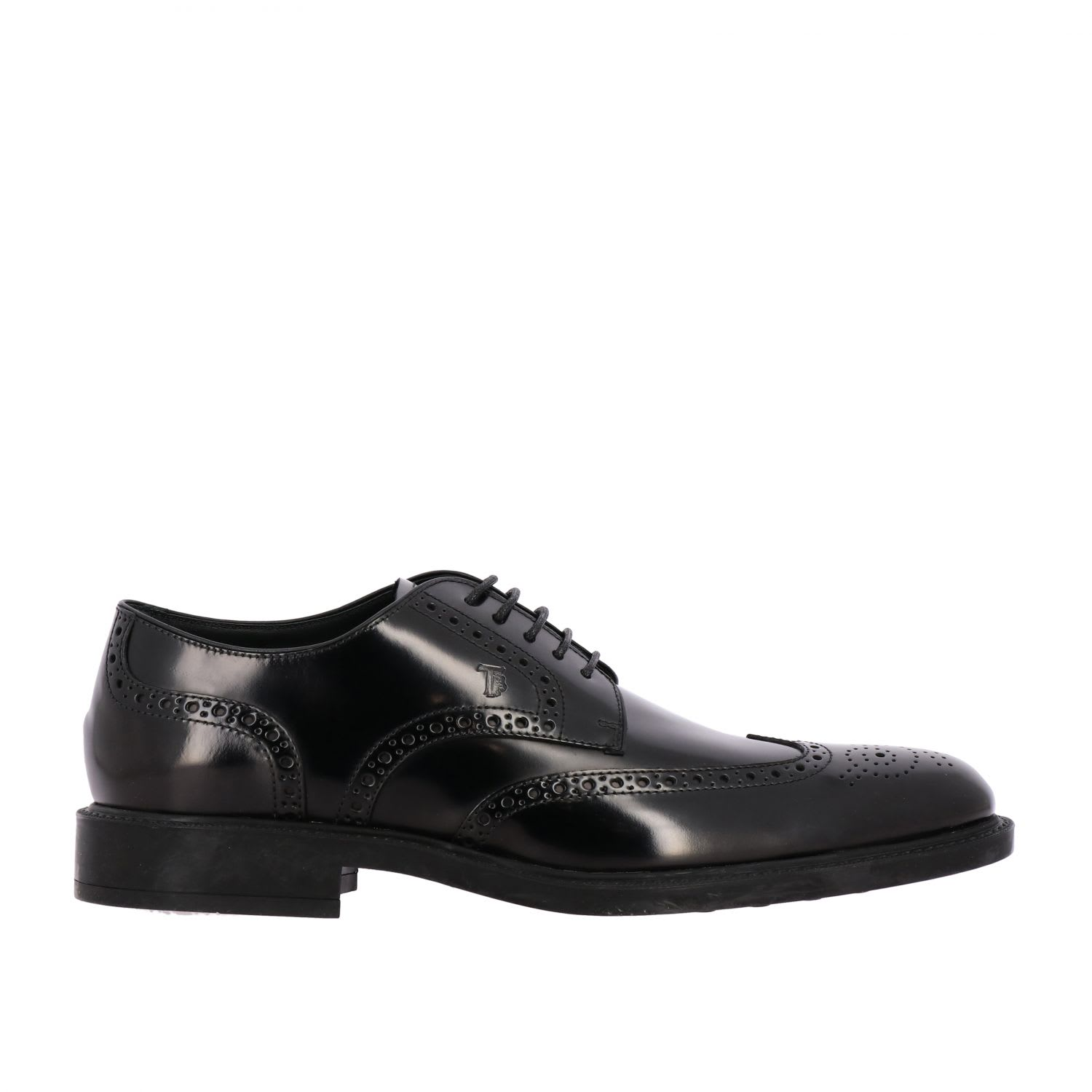 Brogue Shoes Tods Derby In Brushed Leather With Dovetail Brogue MotifComposition: 100% Calfskin