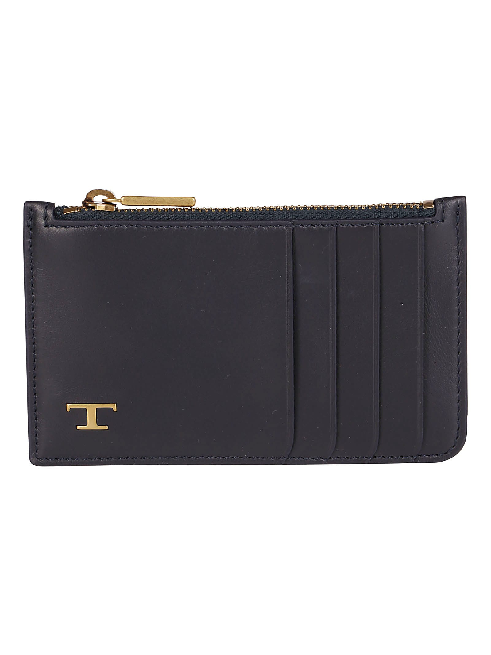 Tods Blue Leather Cardholder