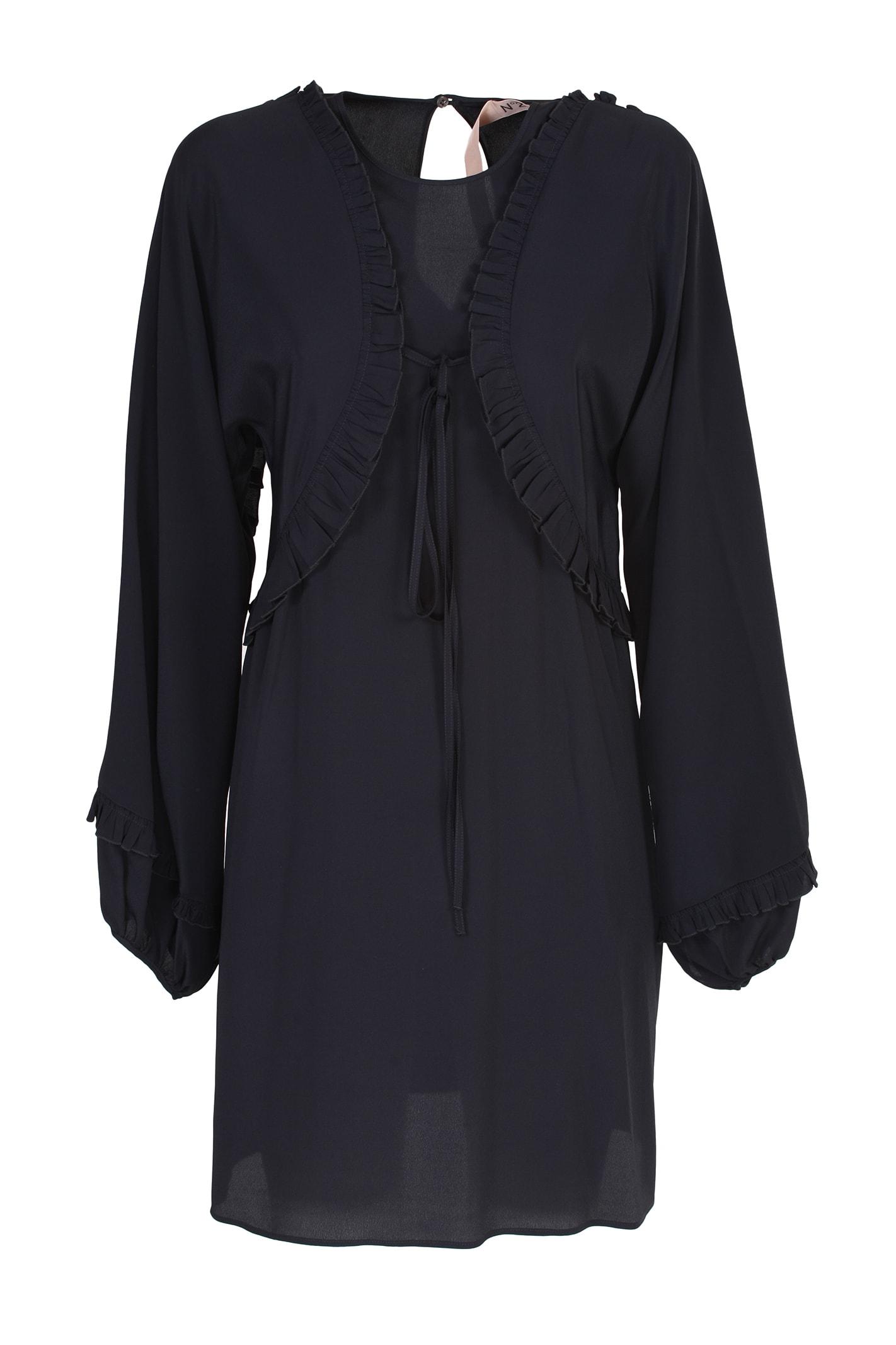 Buy N. 21 black silk dress online, shop N.21 with free shipping
