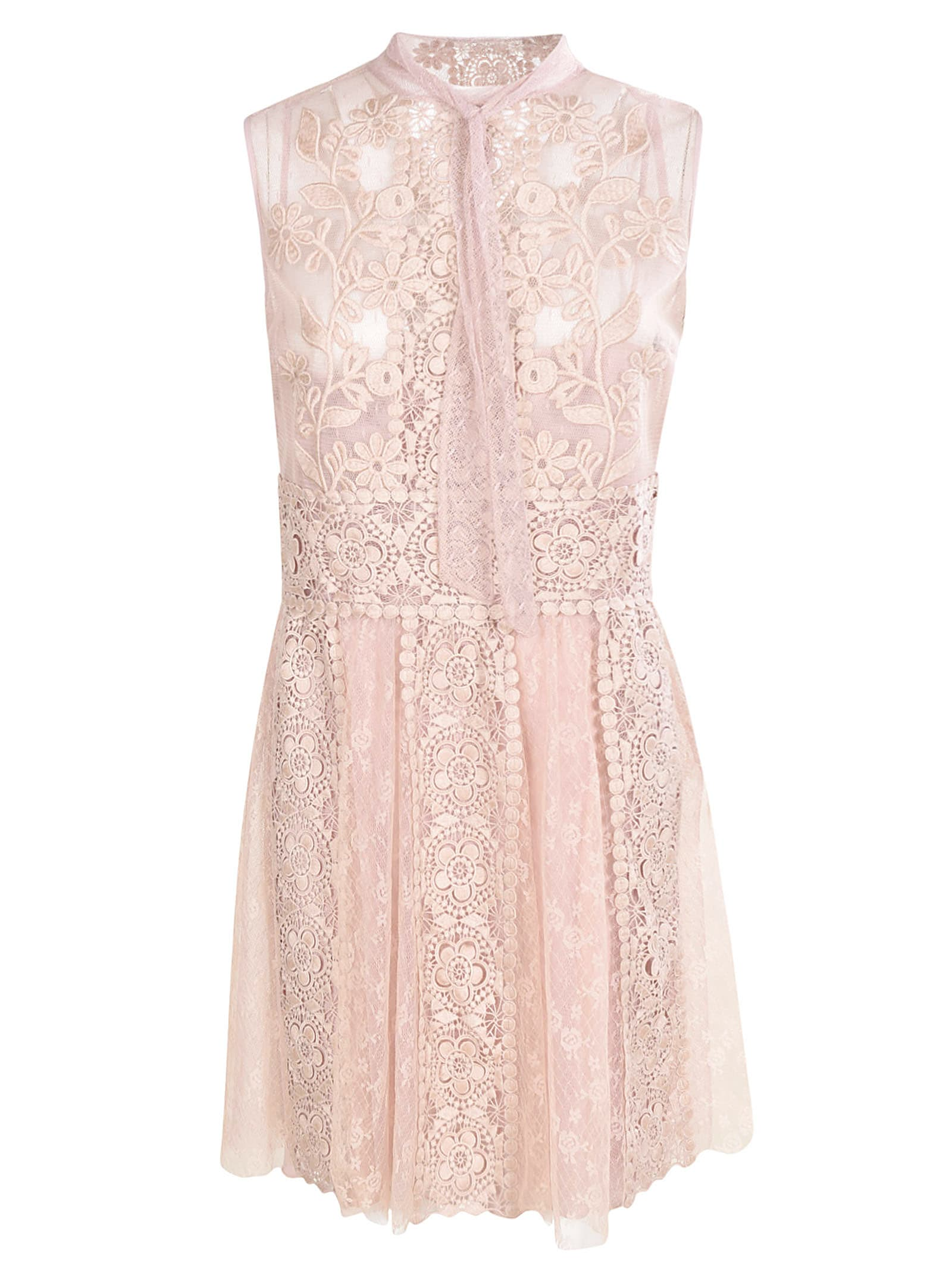 Buy RED Valentino Lace Sleeveless Dress online, shop RED Valentino with free shipping