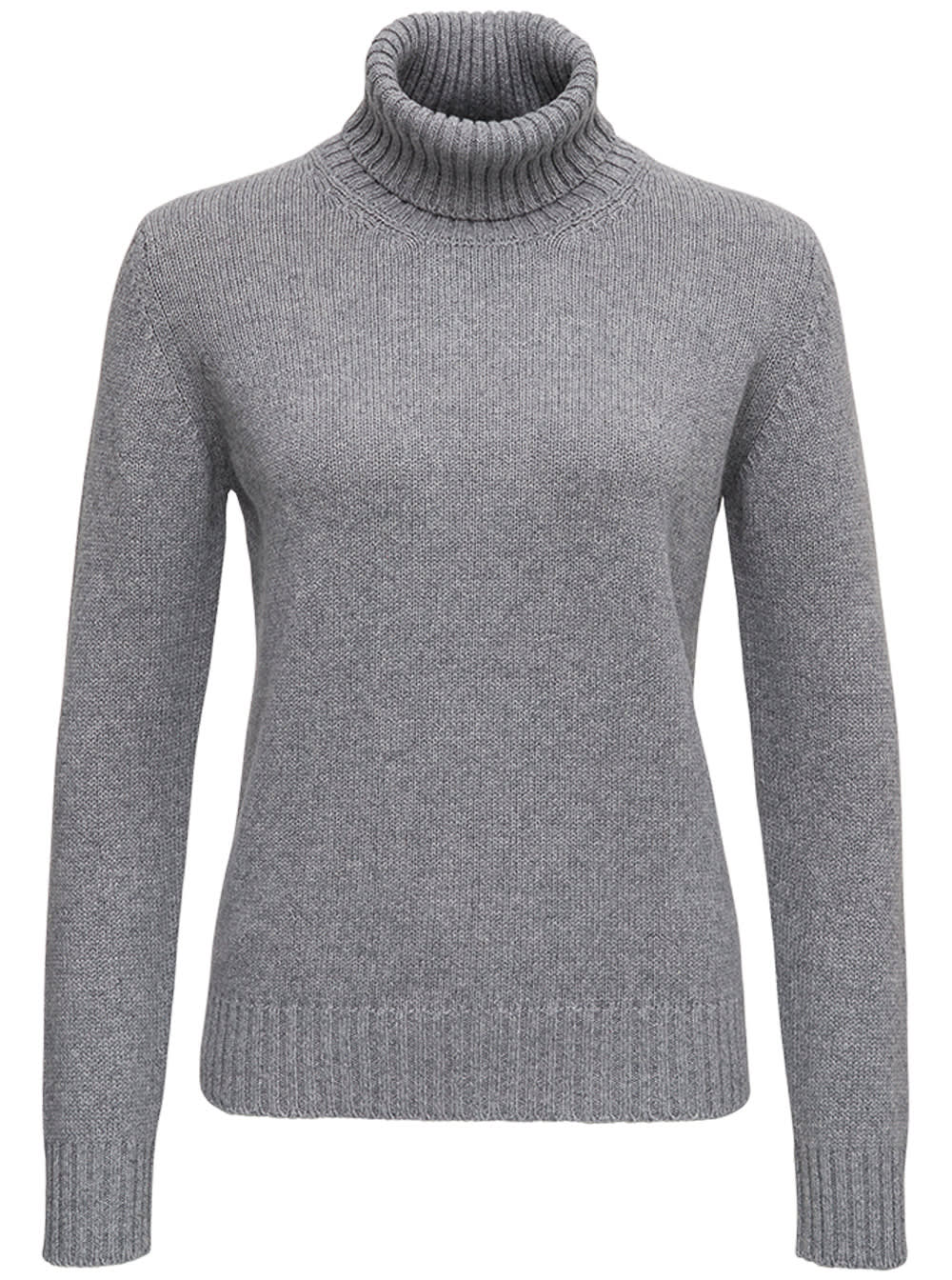Grey Cashmere Turtleneck