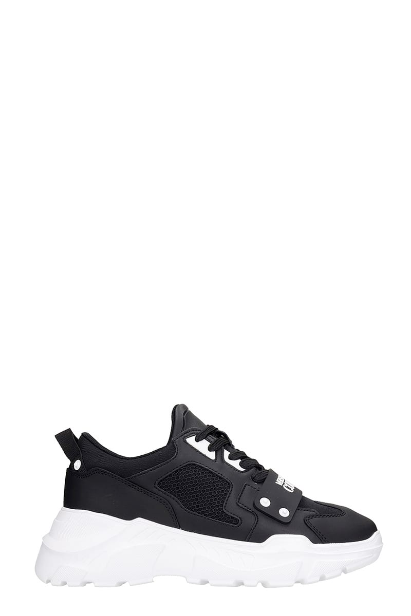 Versace Jeans Couture Sneakers SNEAKERS IN BLACK RUBBER/PLASIC