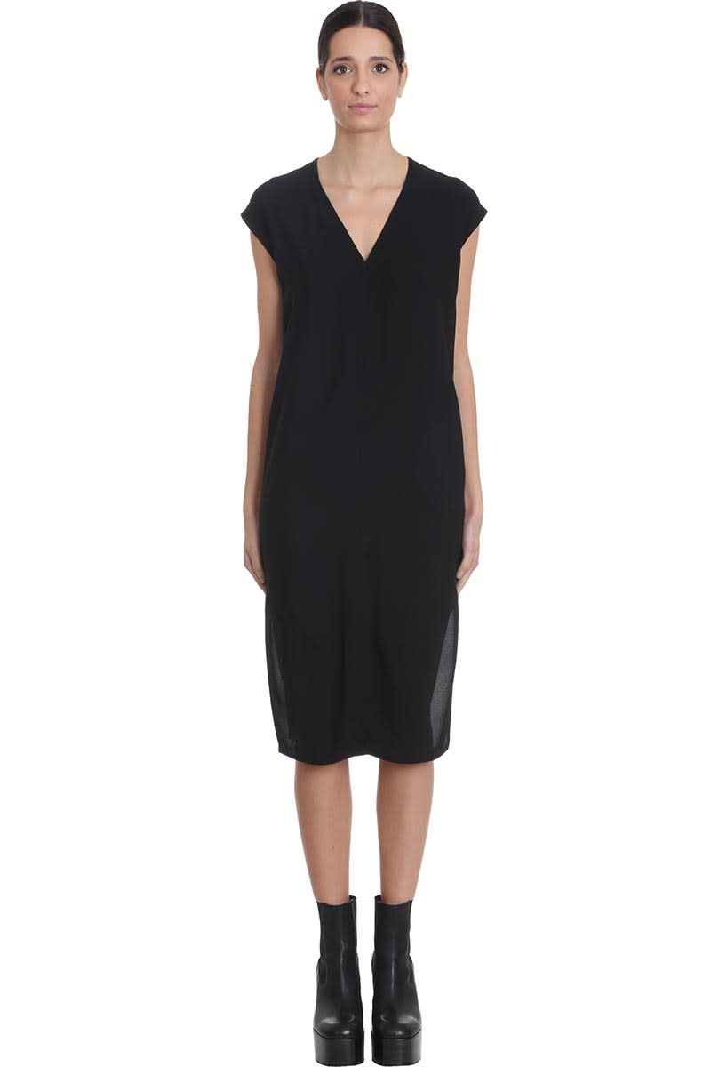 Buy Rick Owens V Dress Dress In Black Viscose online, shop Rick Owens with free shipping