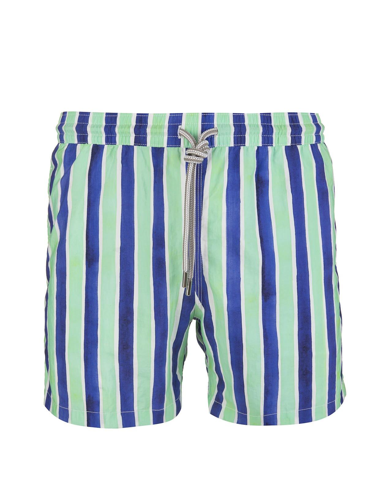 Blue And Aquamarine Striped Swimsuit