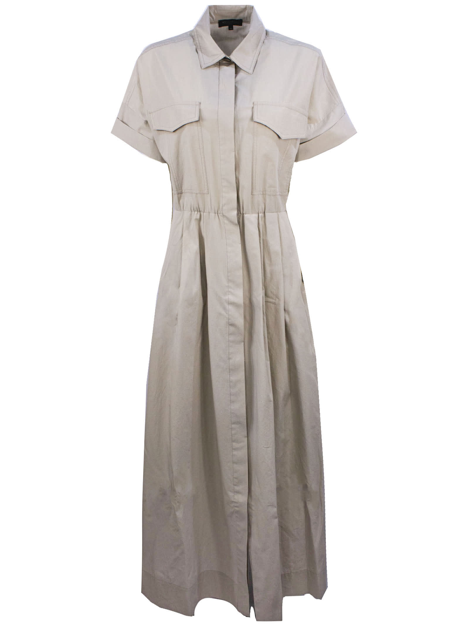 Buy Antonelli Beige Cotton Maxi Dress online, shop Antonelli with free shipping