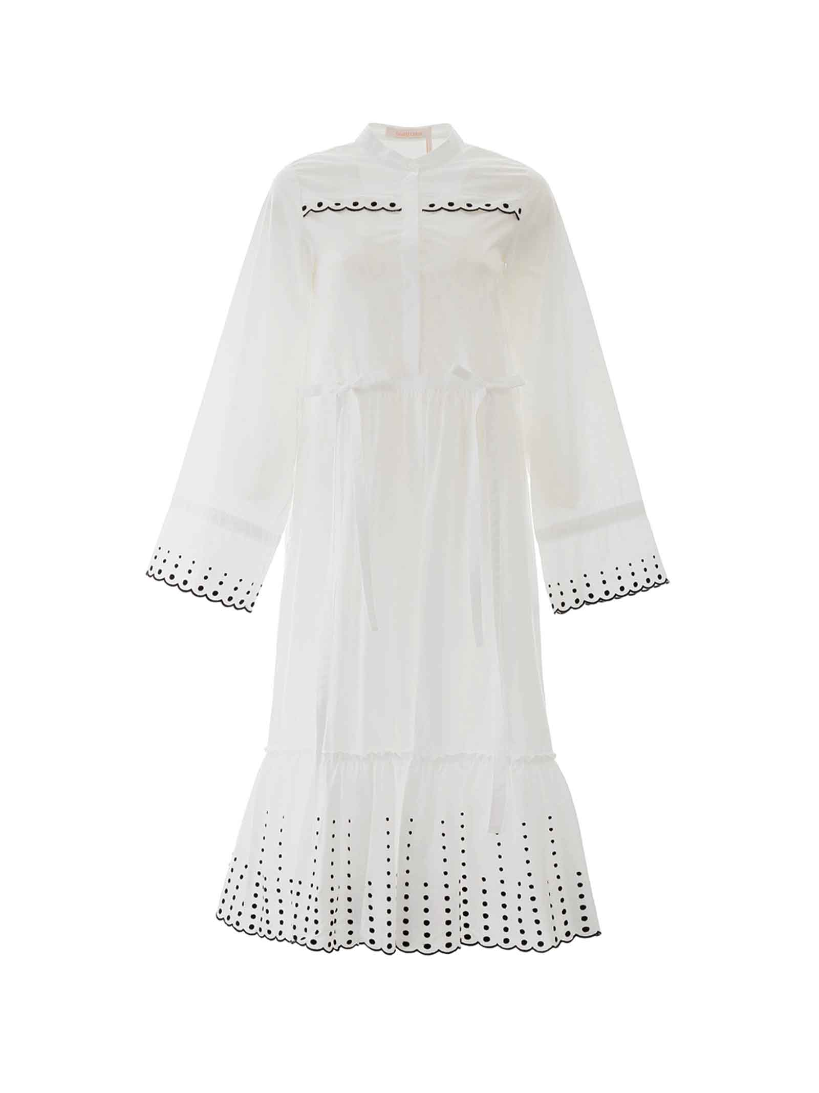 Buy See by Chloé See By Chloè Embroidered Midi Dress online, shop See by Chloé with free shipping