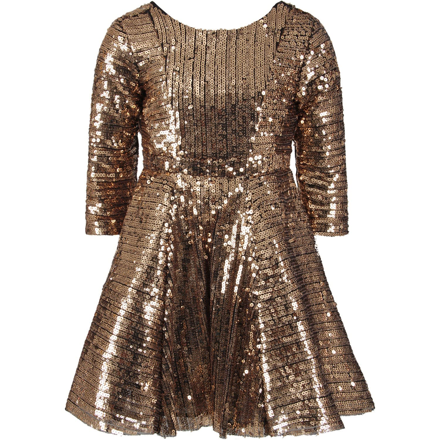 Le Gemelline by Feleppa Pink Girl brillo Dress With Sequins