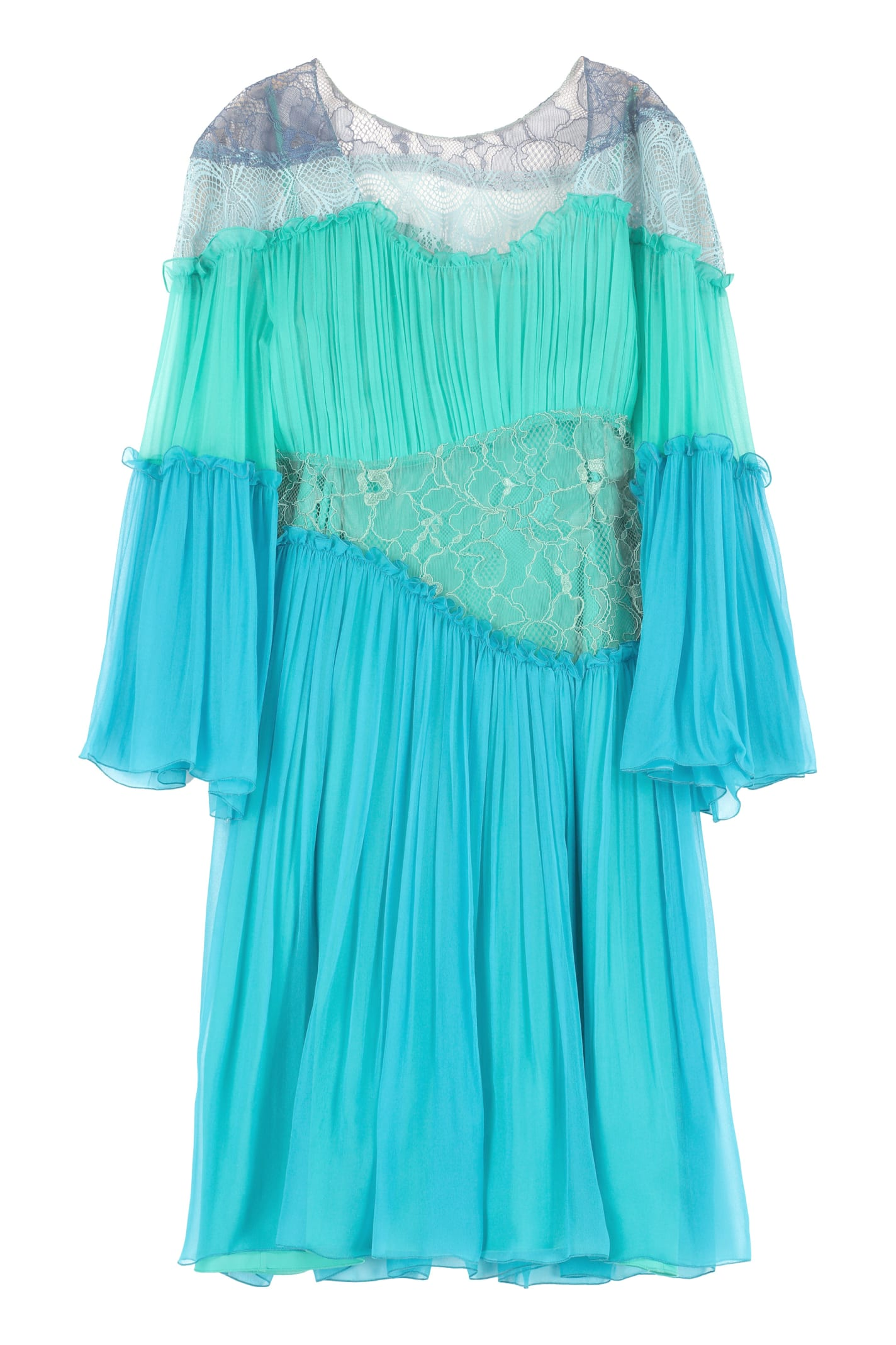 Buy Alberta Ferretti Asymmetric Mini Dress online, shop Alberta Ferretti with free shipping