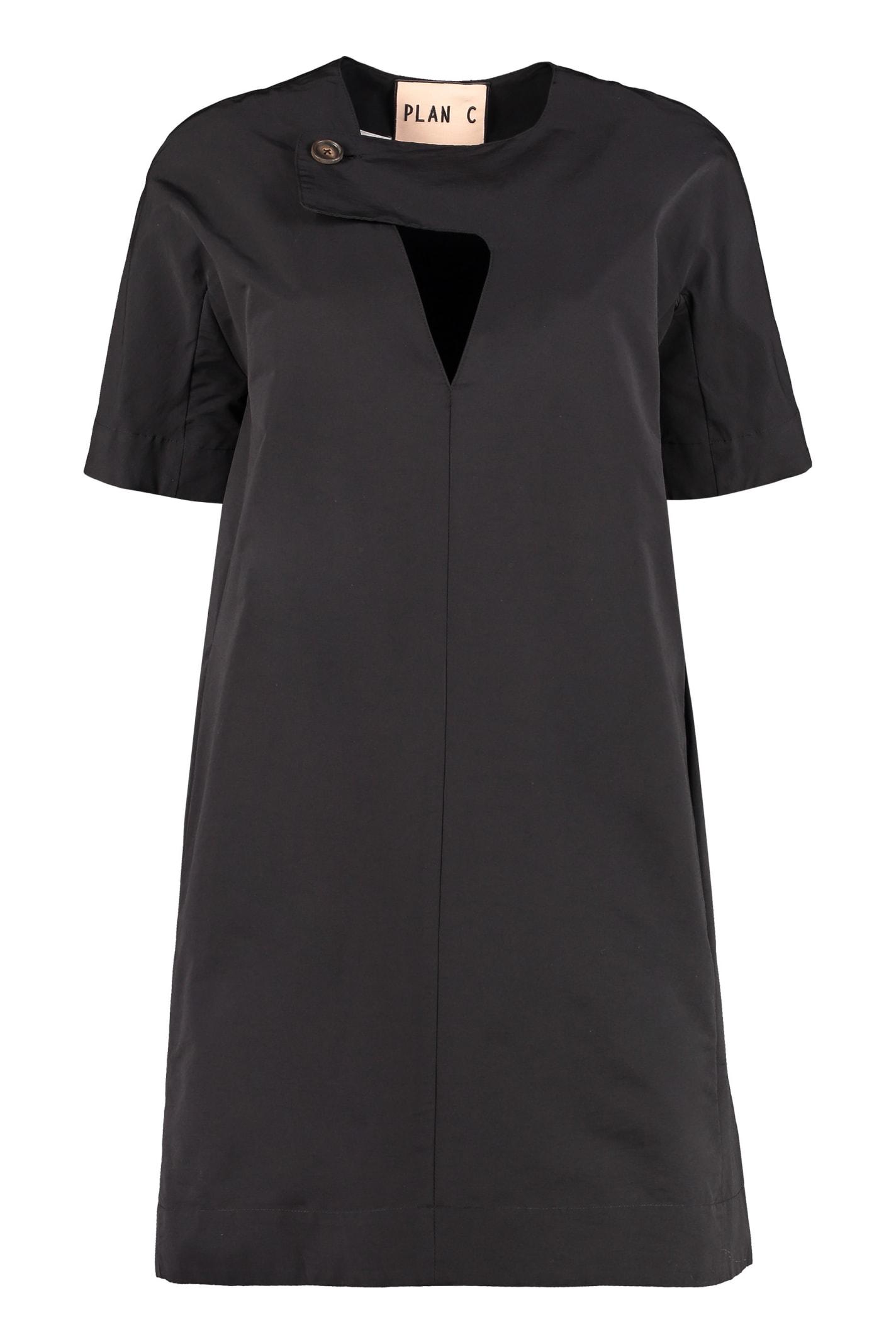 Buy Plan C Cotton-blend Dress online, shop Plan C with free shipping