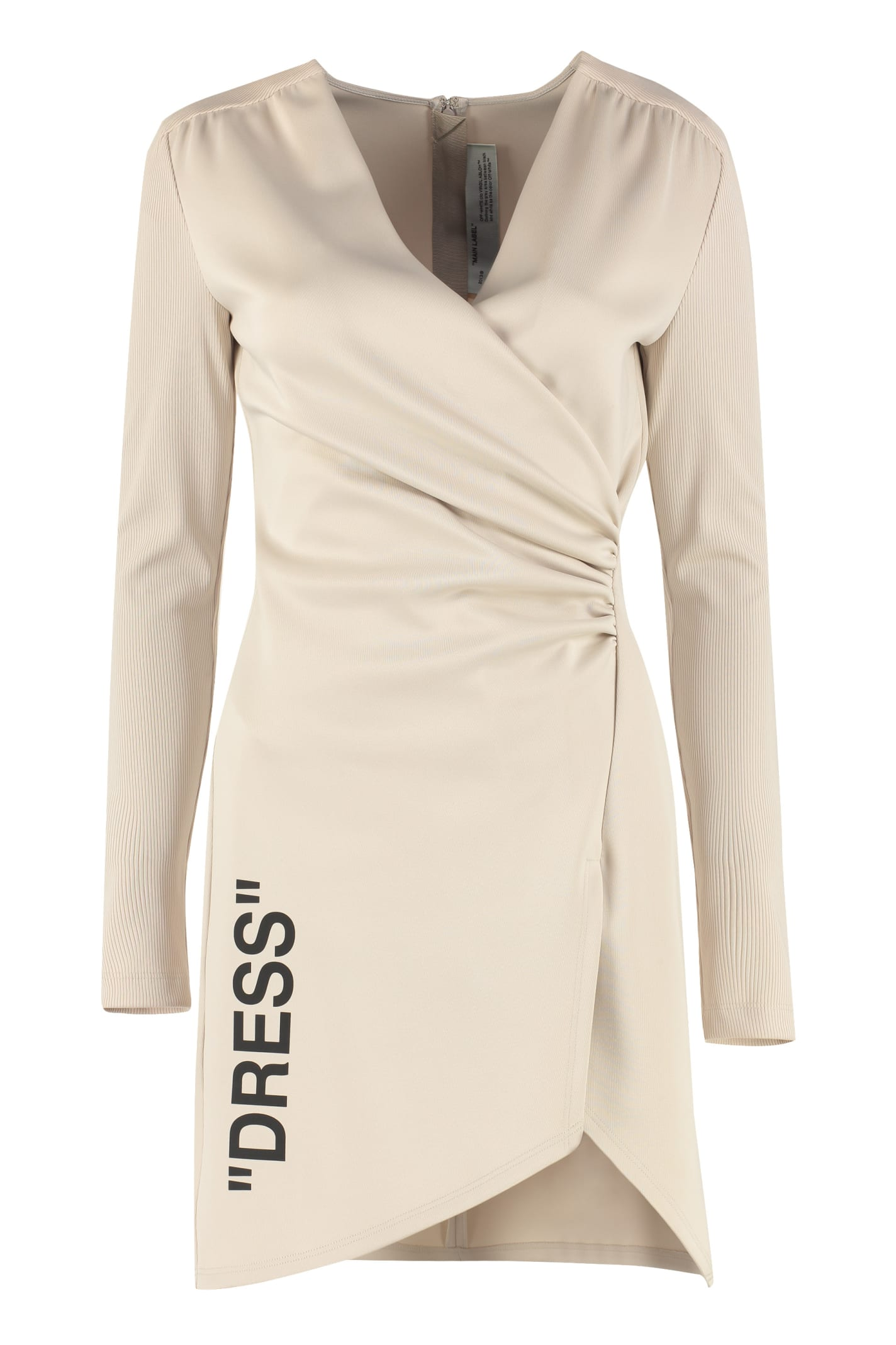 Buy Off-White Draped Asymmetric Dress online, shop Off-White with free shipping
