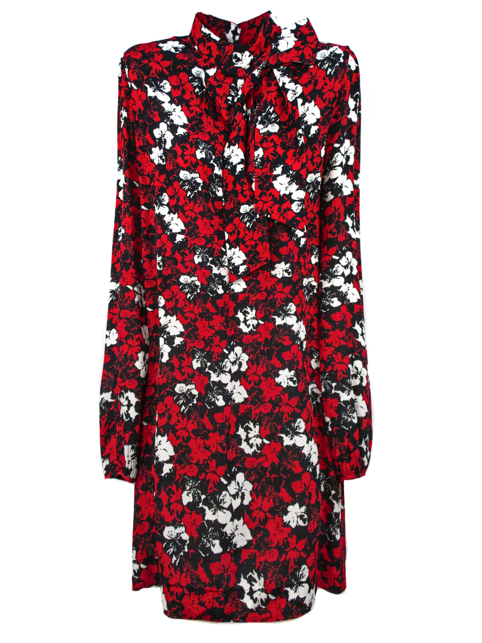 Buy N.21 Red Floral Print Dress online, shop N.21 with free shipping