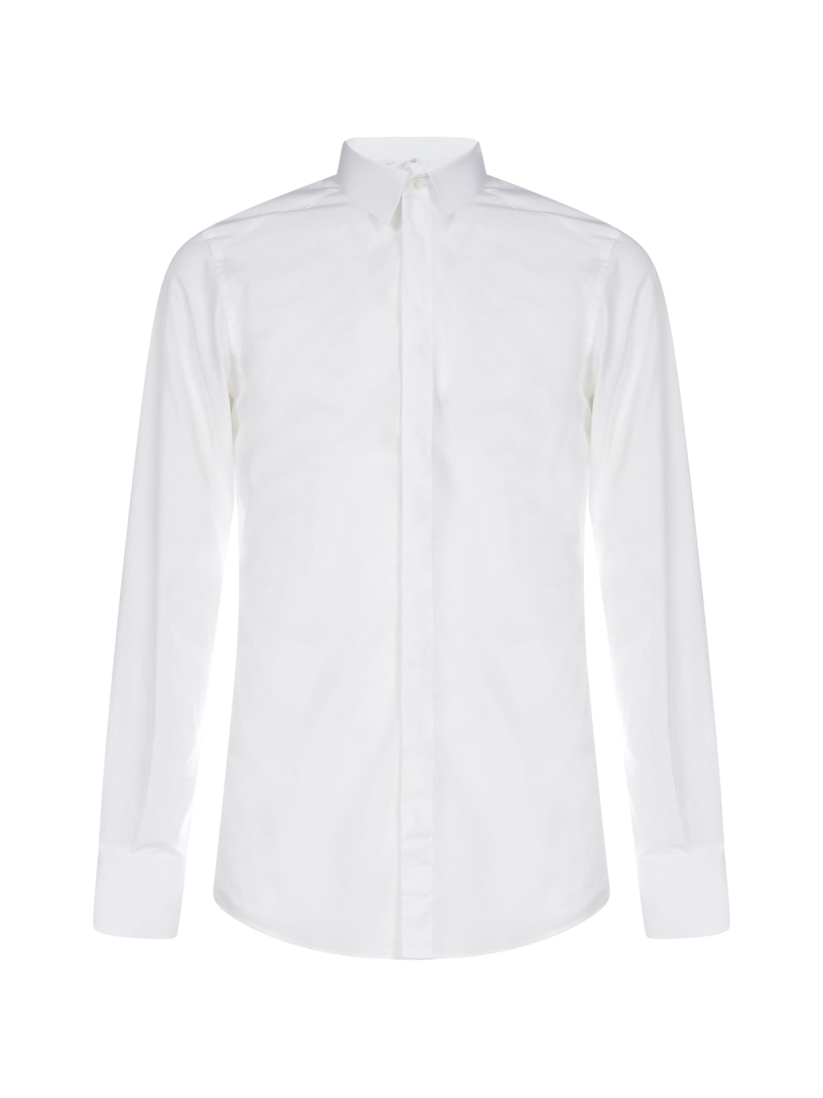Dolce & Gabbana Bee-crown Embroidery Cotton Shirt