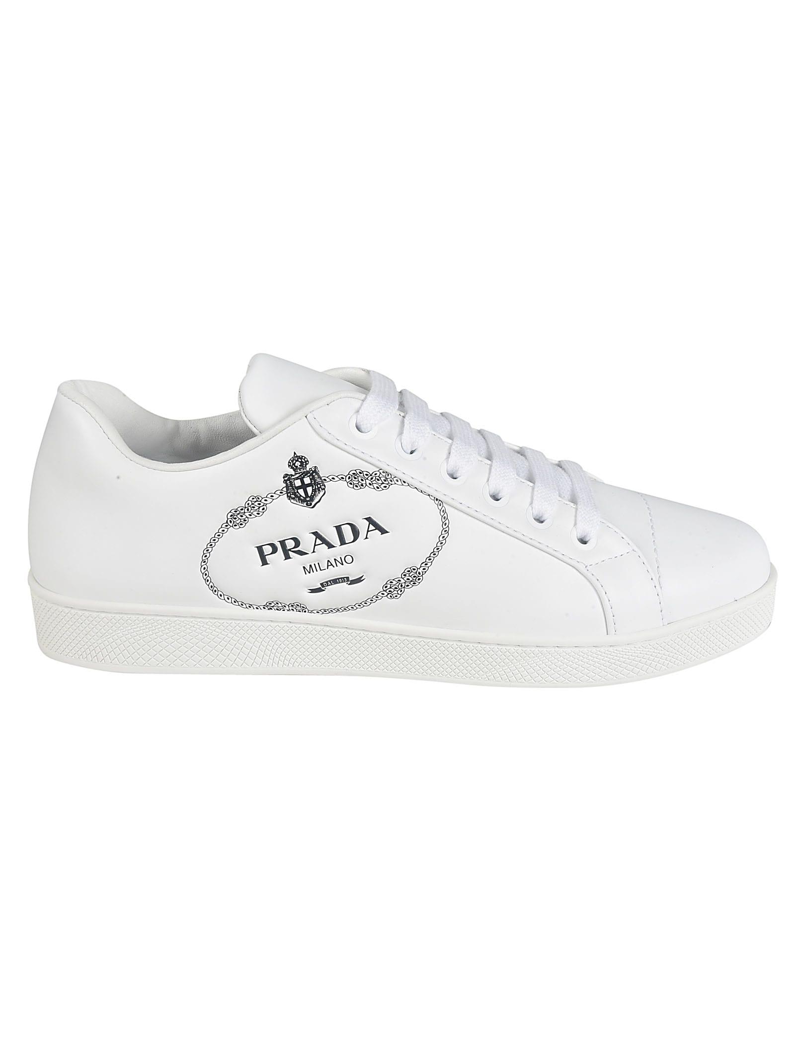 Buy Prada Logo Sneakers online, shop Prada shoes with free shipping