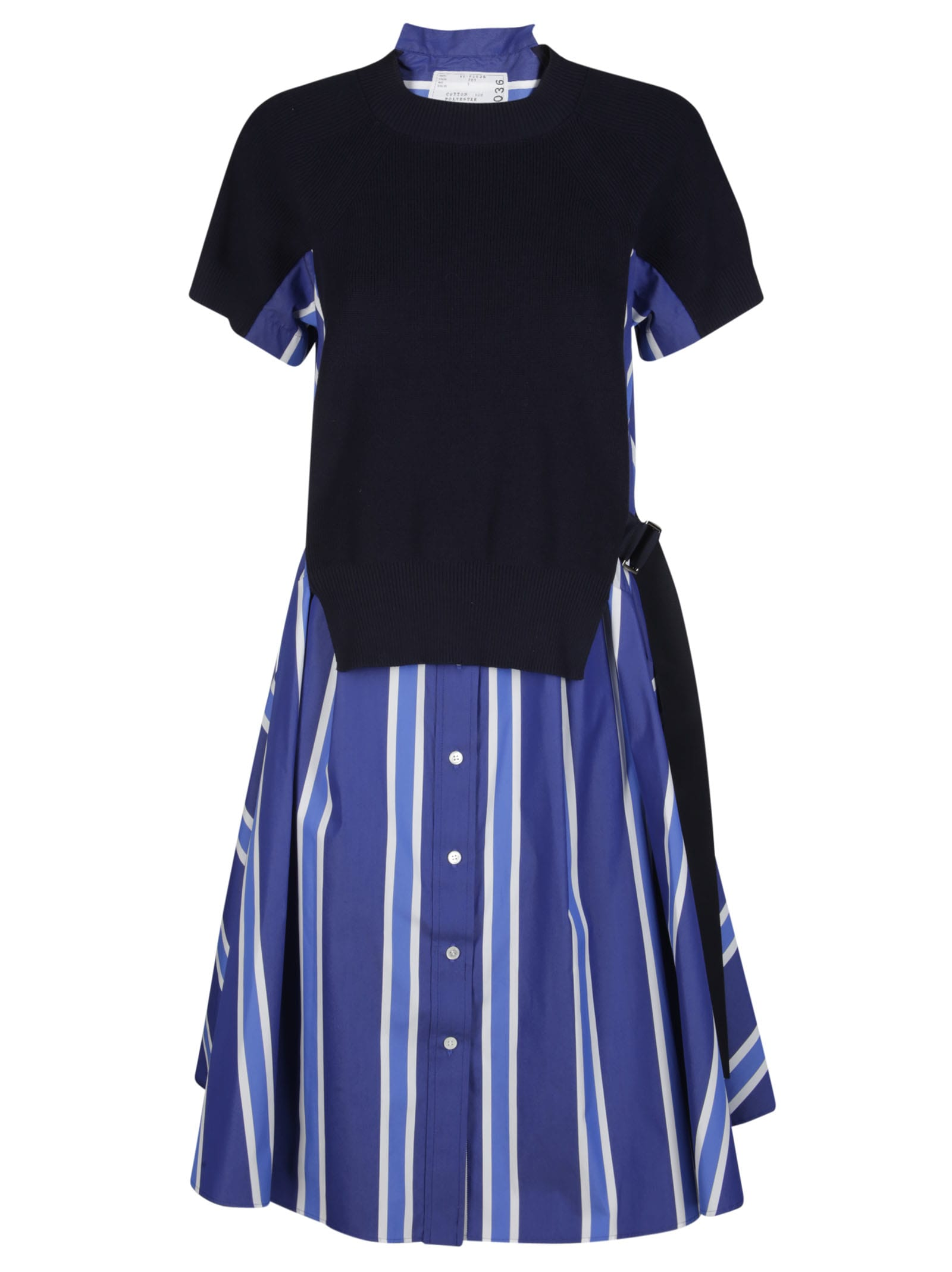 Buy Sacai Blue Cotton Dress online, shop Sacai with free shipping