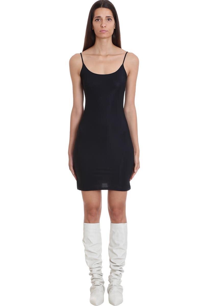 Jil Sander Dress In Black Polyamide