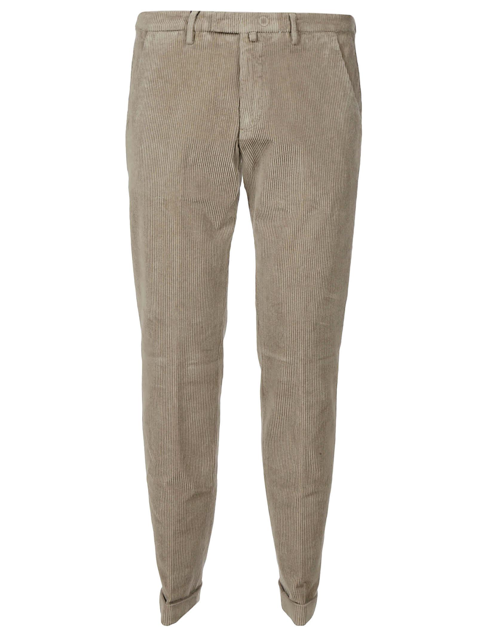 1949 Plain Cropped Corduroy Trousers