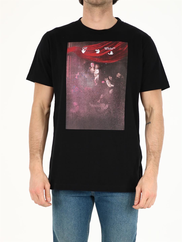 Off-White T-shirts BLACK CARAVAGGIO T-SHIRT