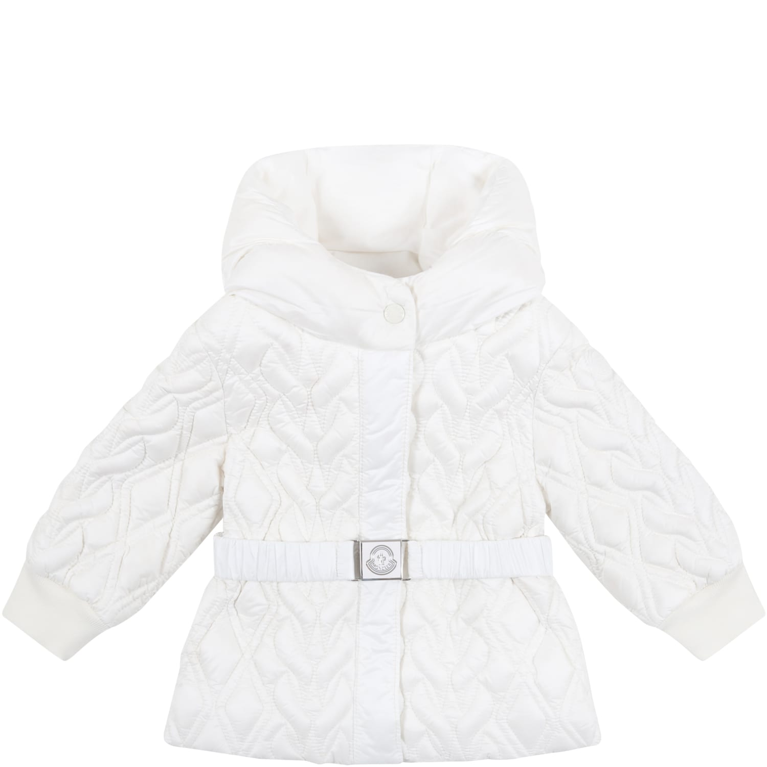 Moncler White suher Jacket For Baby Girl
