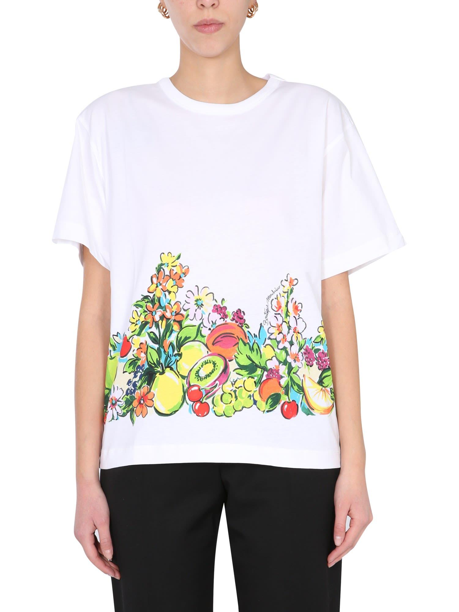Boutique Moschino T-shirts FRUIT PRINT T-SHIRT