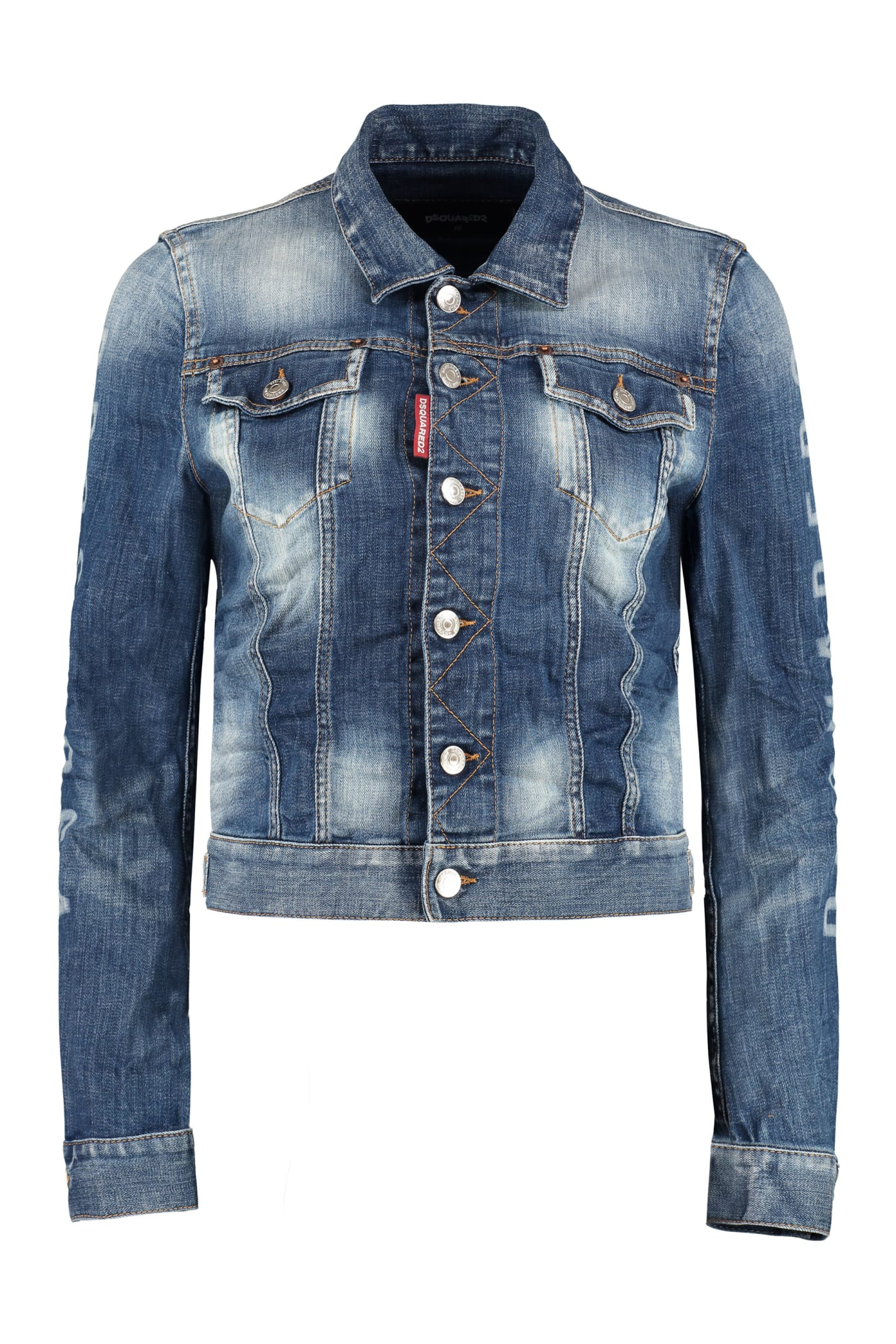 Dsquared2 Logo Detail Denim Jacket