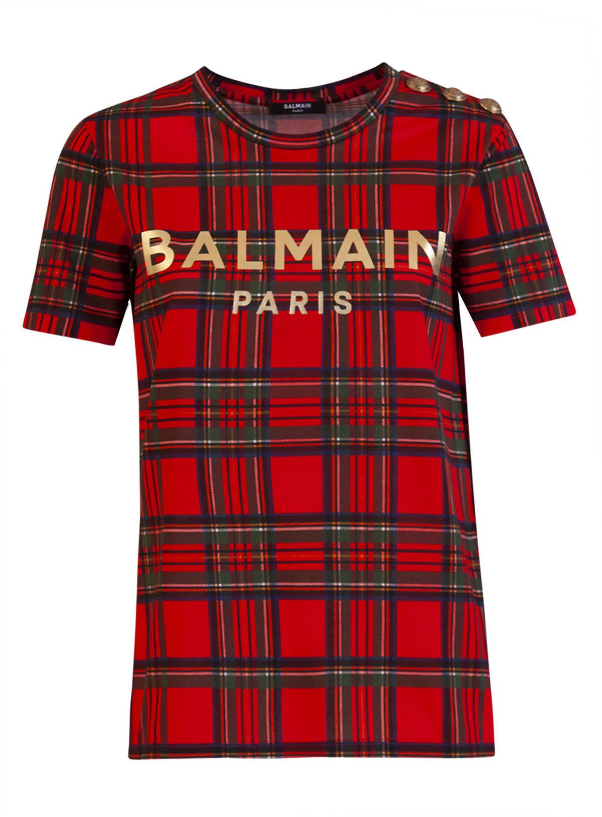 Balmain Tartan T-shirt