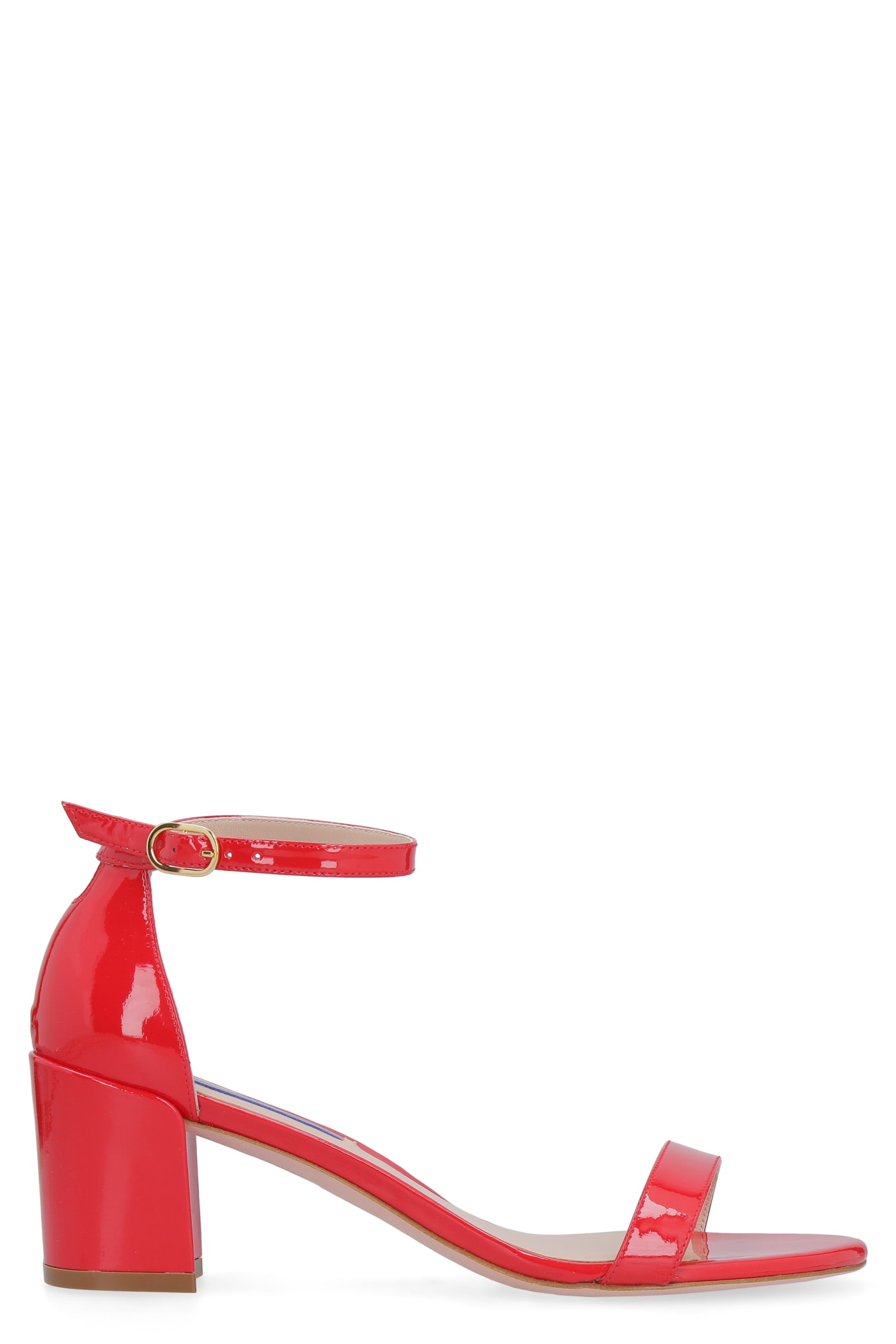 Stuart Weitzman Simple Patent Leather Sandals