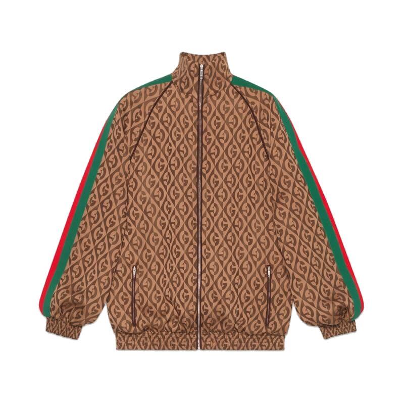 Gucci Zipped Logo Rombus Jacket