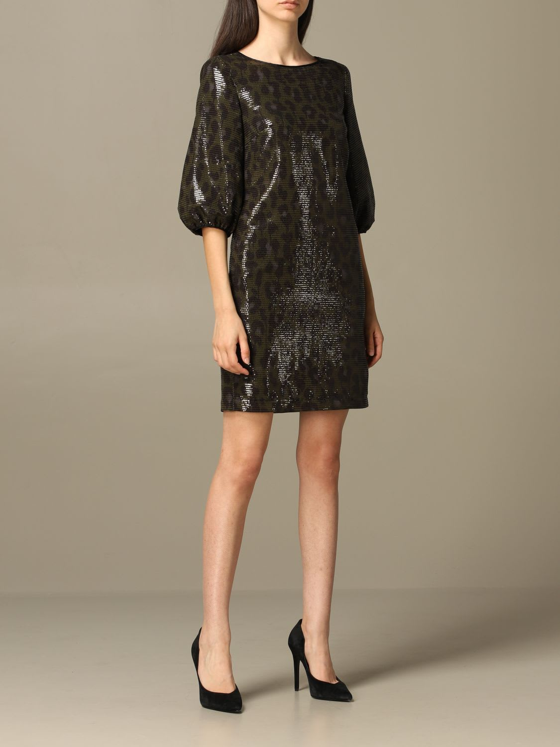 Boutique Moschino Dress Moschino Boutique Dress In Animalier Sequins