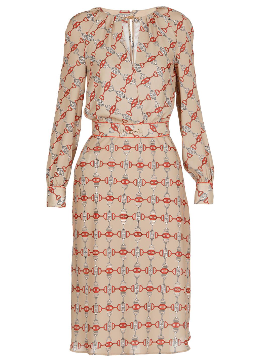 Elisabetta Franchi Georgette Dress With Print