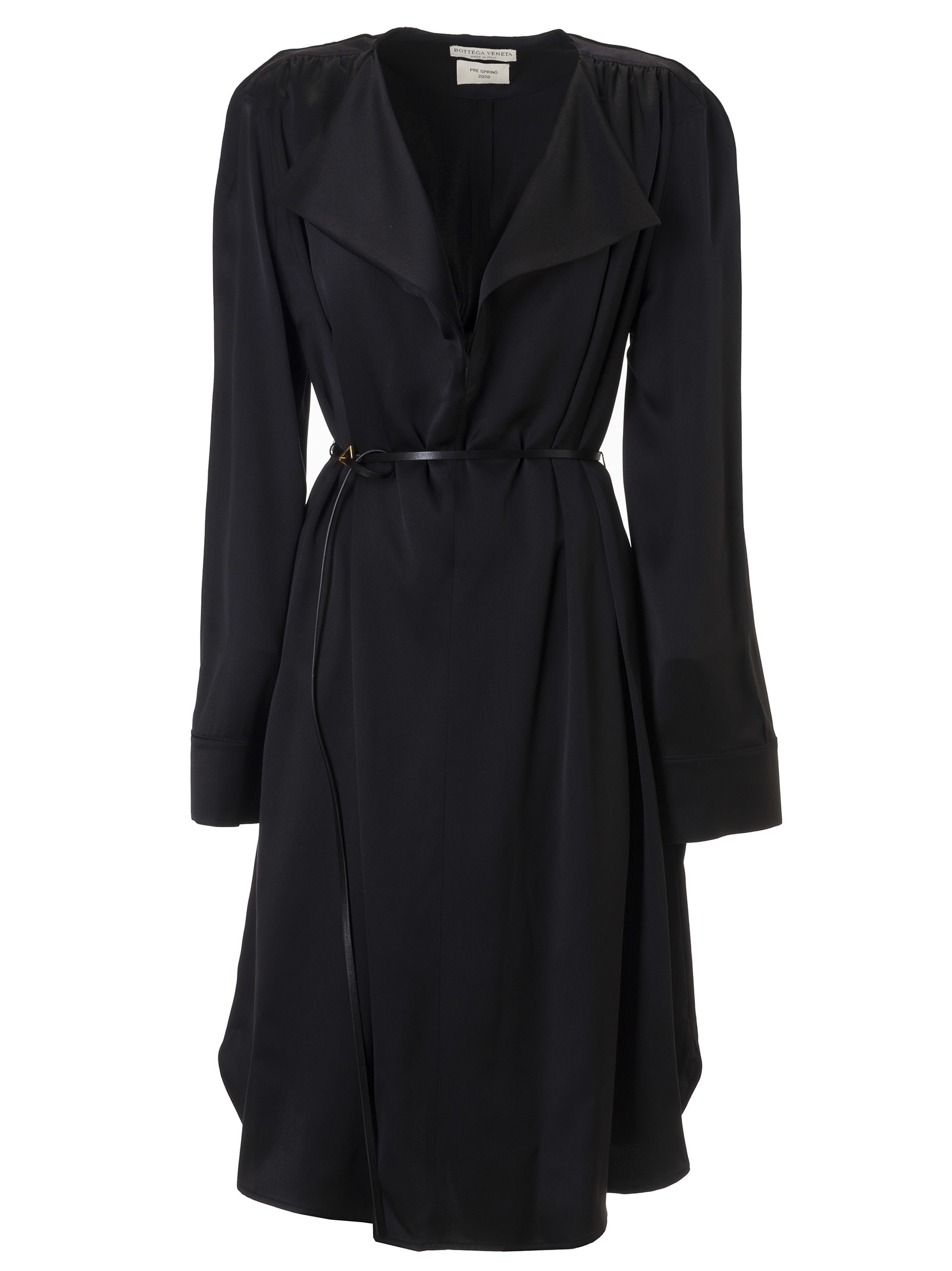 Buy Bottega Veneta Belted Waist Mid-length Dress online, shop Bottega Veneta with free shipping