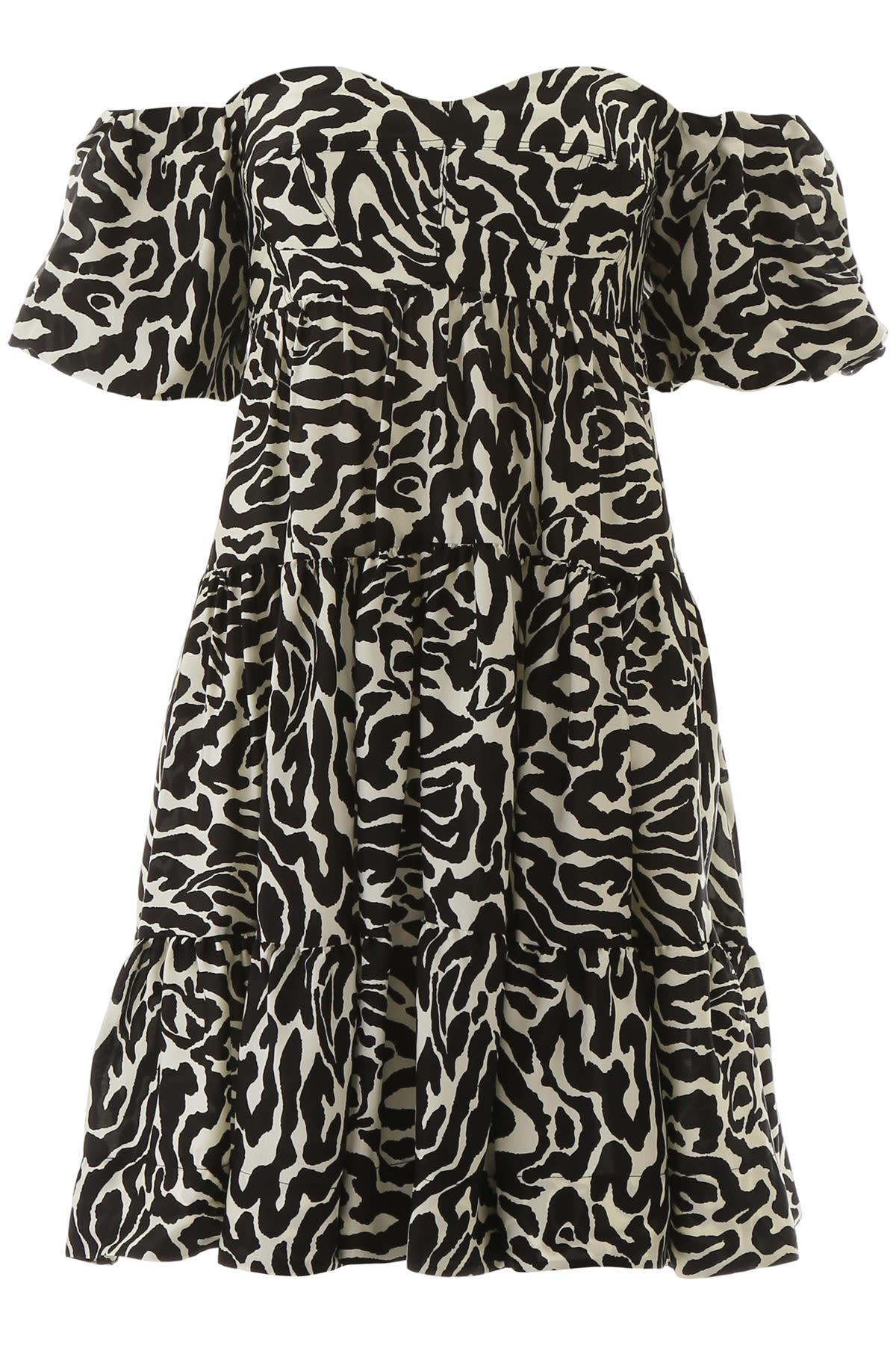 Buy Pinko Zebra Print Mini Dress online, shop Pinko with free shipping